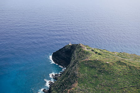 aerial view photography of cliff during daytime
