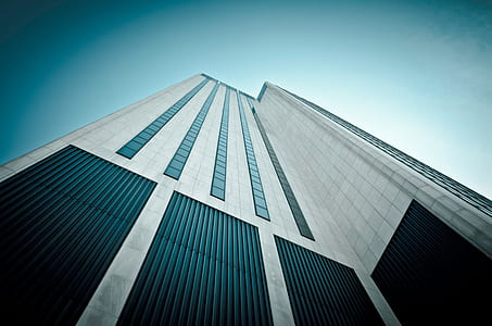 white and black high rise concrete building