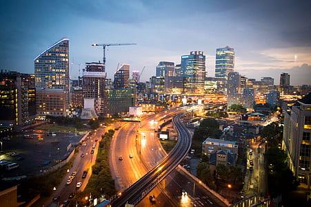 city lights illustration