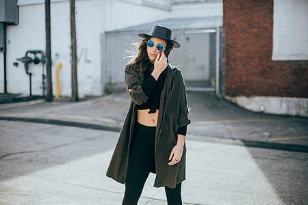 woman wearing gray cardigan