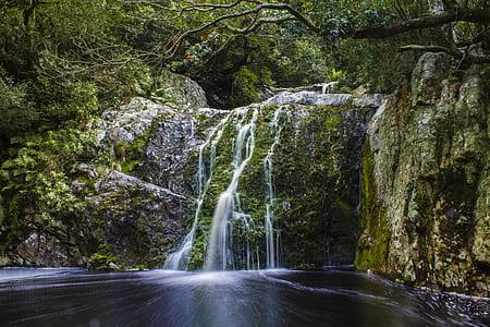 landscape photo of waterfall