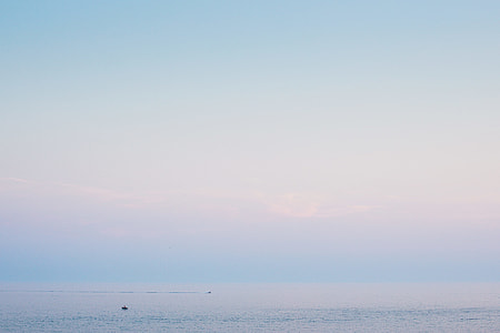 Minimalist Evening Sea Horizon