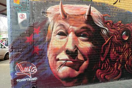 US Pres. Donald Trump graffiti