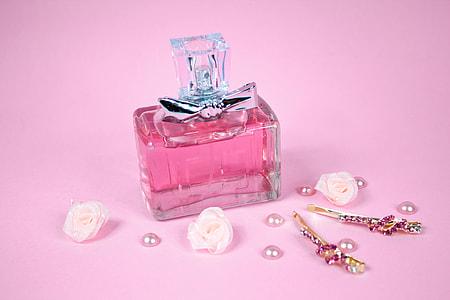 pink fragrance bottle