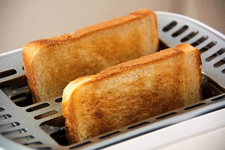 two slices toasted breads