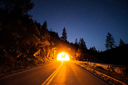 explosion inside tunnel during night time
