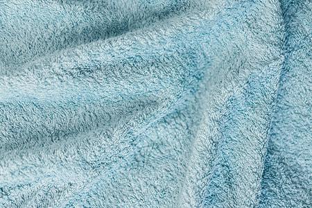 Soft Cotton Blue Towel Close Up Background