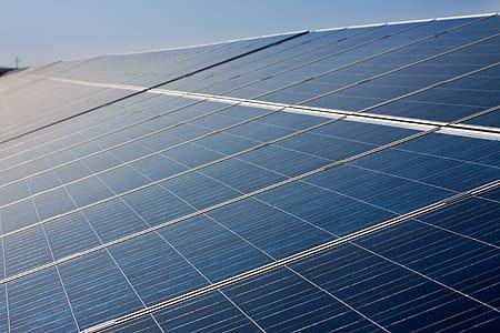 photo of black solar panels