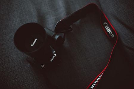 Canon camera and strap