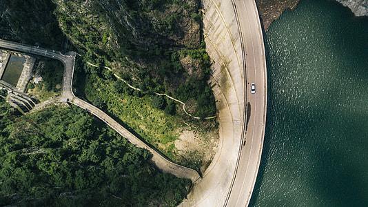 Water dam in Romania - Drone