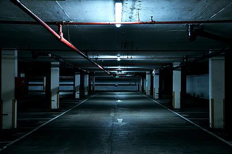 photo of empty car park