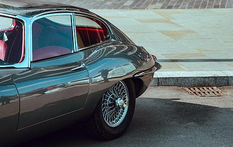 Classic Black Jaguar Car