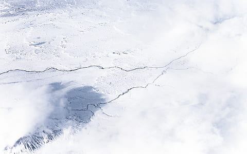 white ice field