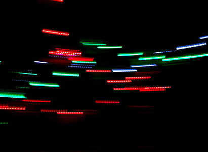 green and red LED light