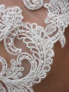white crochet textile