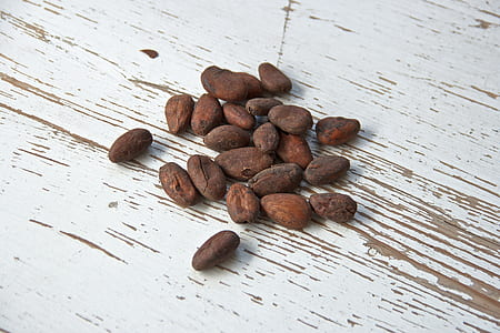brown nuts on table top