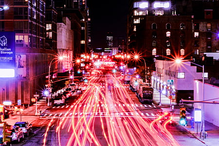 timelapse photography of cars
