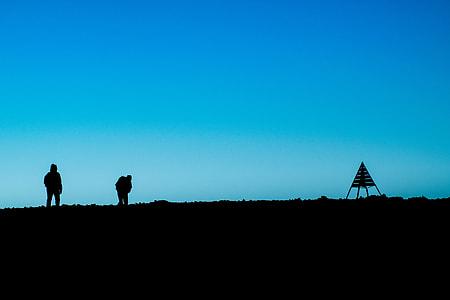 silhouette photo of men