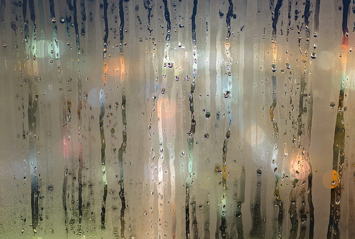 frosted glass with water drops