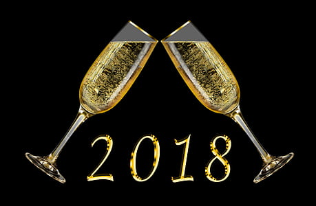 2018 champagne flute