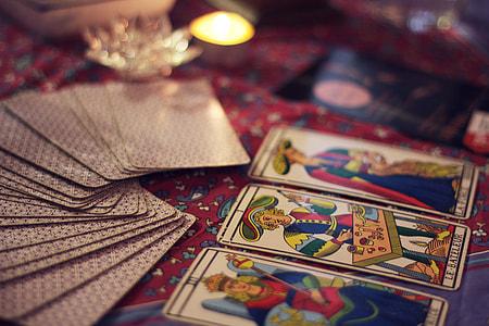 fan of tarot cards