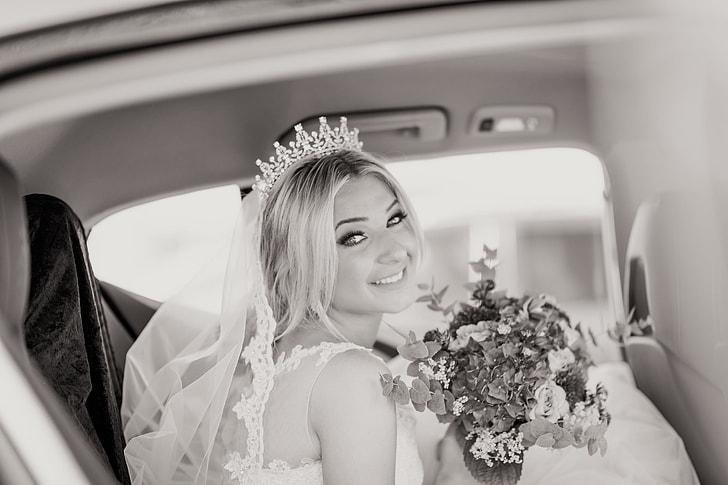 Wedding bride in dress