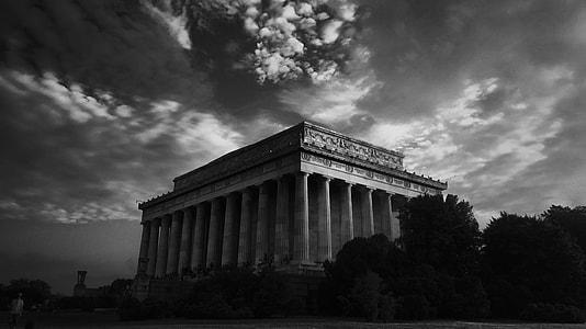 gray scale Parthenon photo