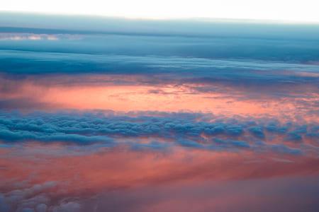 bird's eye view of cirrus clouds