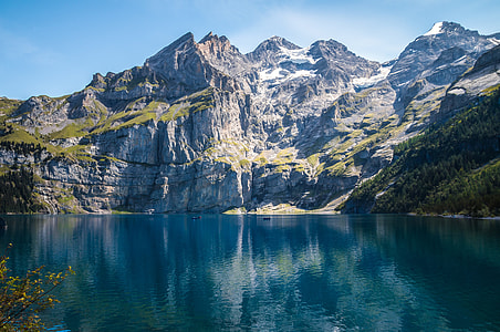 landscape photography of lake and mountain during daytime