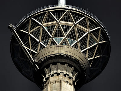 tower, look up, architecture, pattern, milad tower, iran