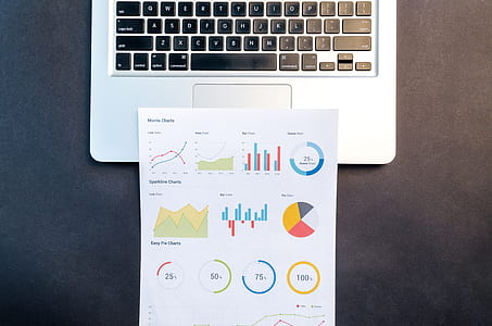 Paper On Gray Laptop