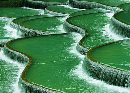 green water fountain