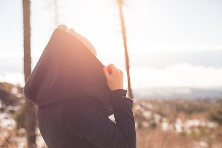 Girl with a Hood under the Sun