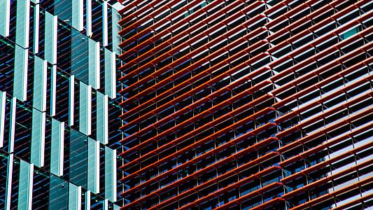 red concrete frames