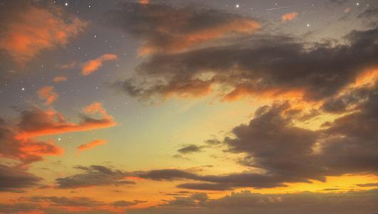 high angle view of sky