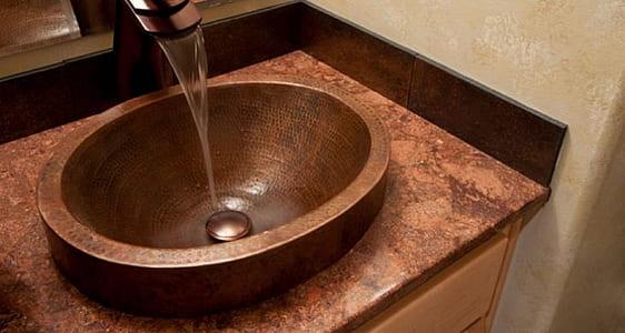 brown sink