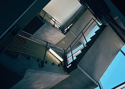 Bottom View of Stairs Inside Building