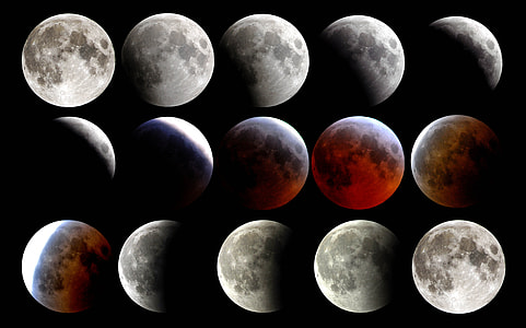 assorted moon angle collage