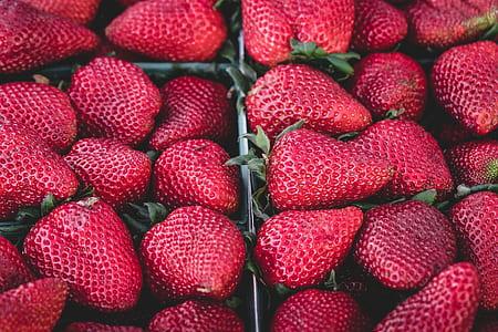 ripe strawberry lot