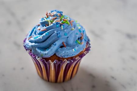 blue filled cupcake