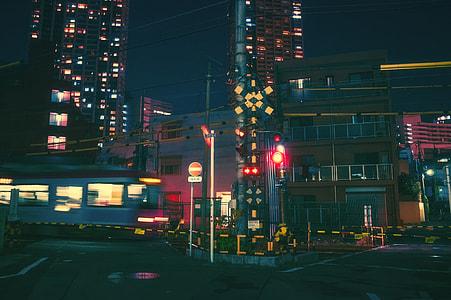 empty street during night