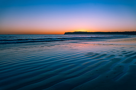 Sunset over the beach at Coronado, San Diego, California