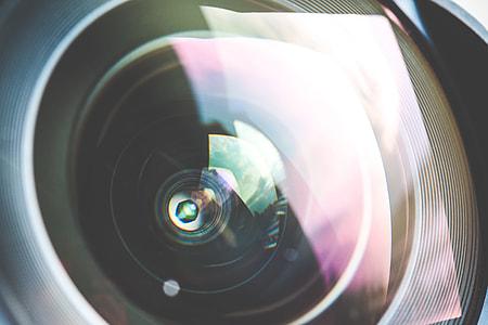 Colorful DSLR Wide Lens Close Up