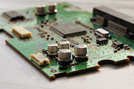 Close Up Photography of Computer Motherboard