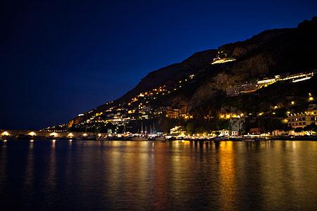Coastline of Amalfi town on the Amalfi Coast in Italy