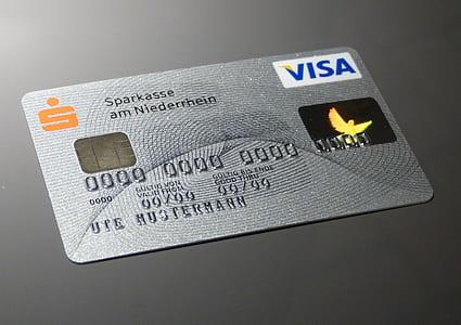 gray Visa card