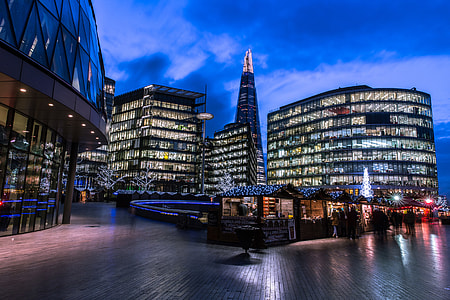 Night shot taken at the More London development in Central London. Image captured with a Canon 6D