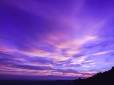 blue sky during golden hour