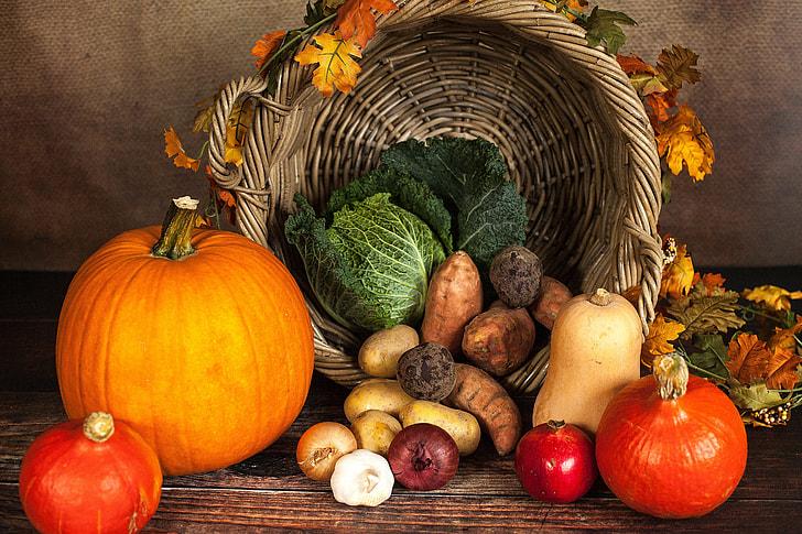 Pumpkins and Autumn vegetables