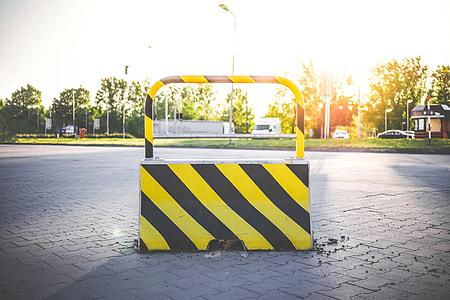 No Way Blocked Road Stop
